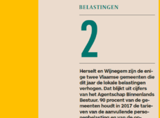De Tijd - Herselt verhoogt gemeentebelasting